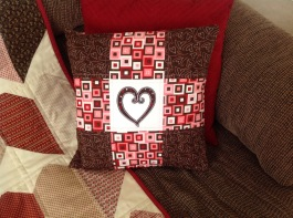 Jan 2016 quilted pillow