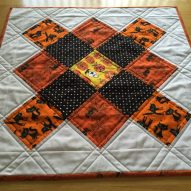 Halloween Granny Square Table Topper