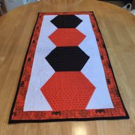 Halloween Half Hexie Table Runner