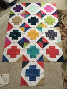 Greek Cross - Sun Print Baby Quilt