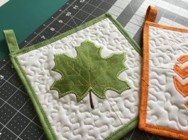 maple leaf pot holder