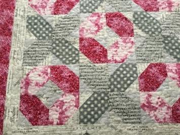 pink gray xo topper