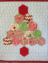 Jingle rag tree mini quilt