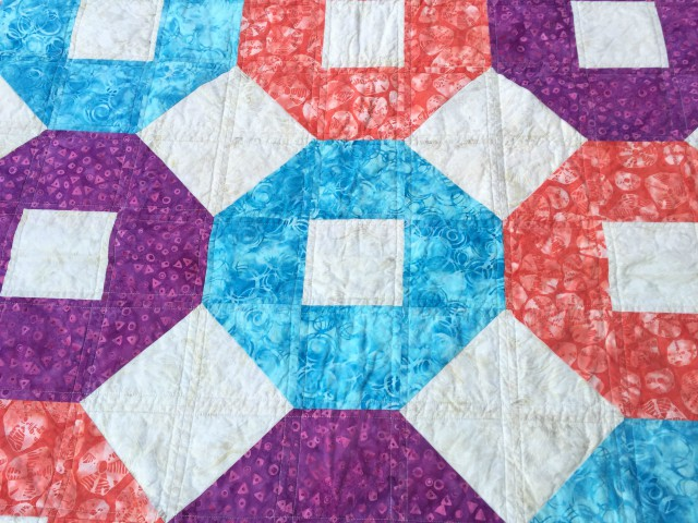 beach ball shoofly baby quilt cu