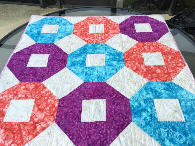 beach ball shoofly baby quilt