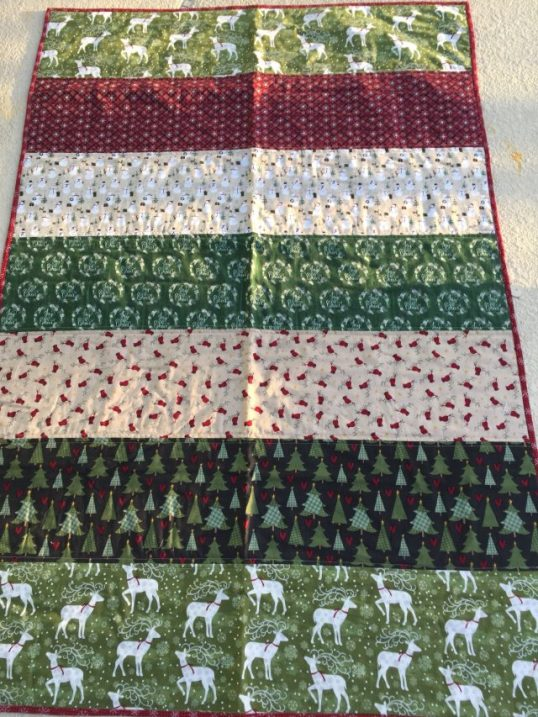 rustic christmas quilt