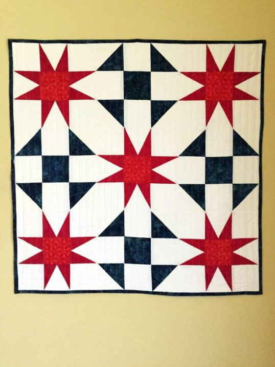 sun ray patriotic wall hanging