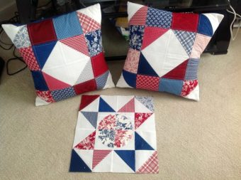 patchwork wheel pillows