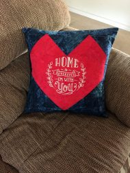 patriotic heart pillow