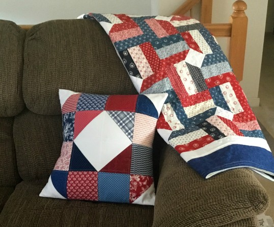 rail fence diamond quilt