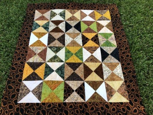 hourglass - batik finished