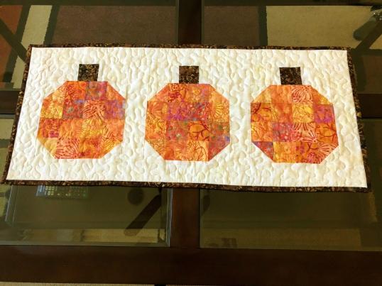 pumpkin - batik topper