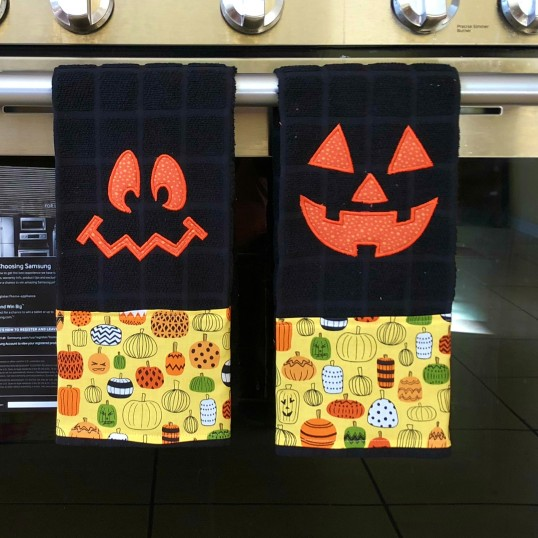 Halloween 2018 Kitchen Towel Applique