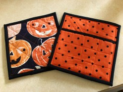 Halloween 2018 Potholder Front and Back