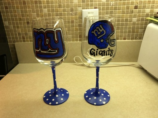 November Giants Wine Glasses