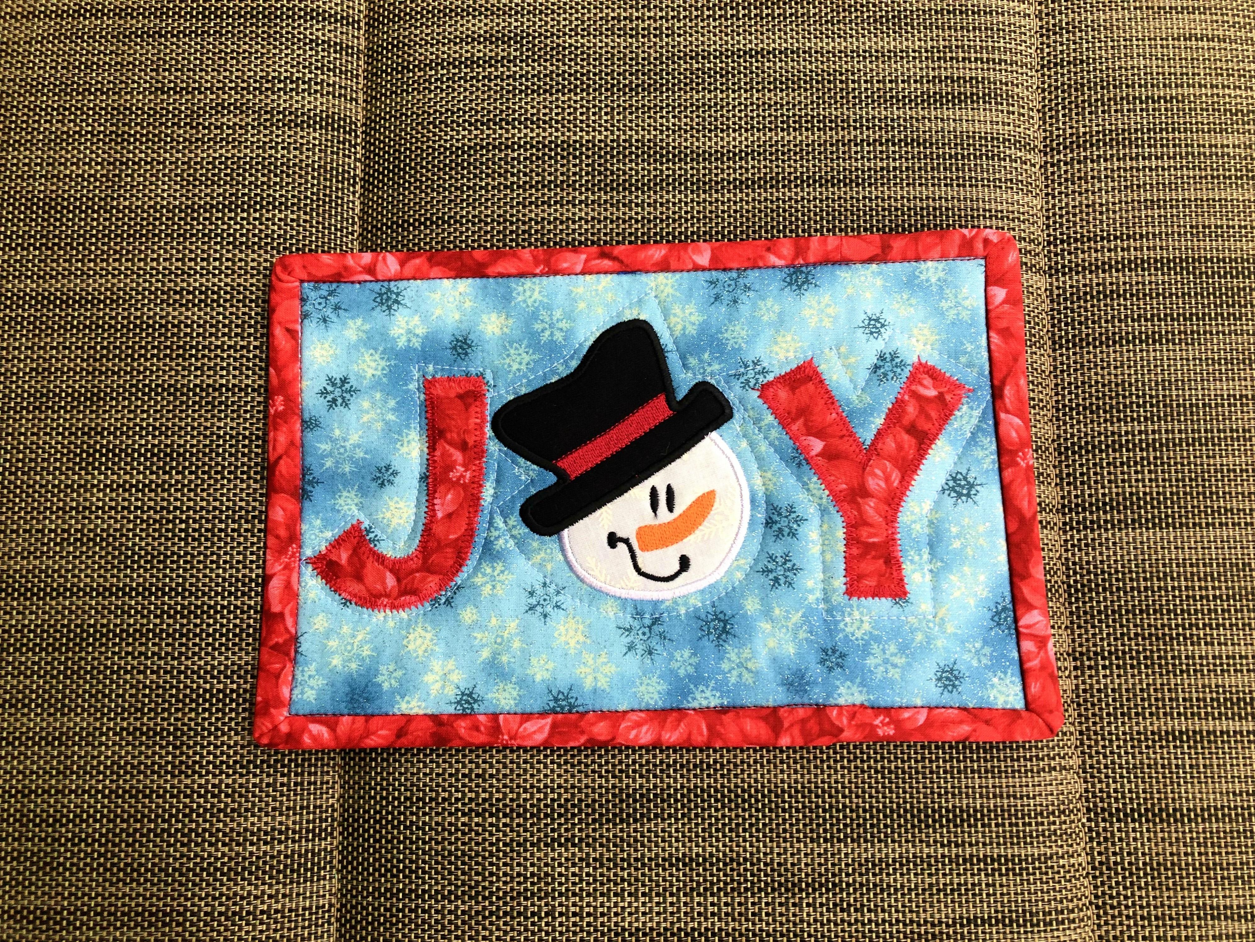 Christmas 2018 Snowman Joy