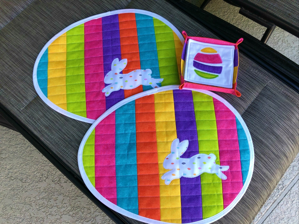 Easter Egg Quilted Placemats
