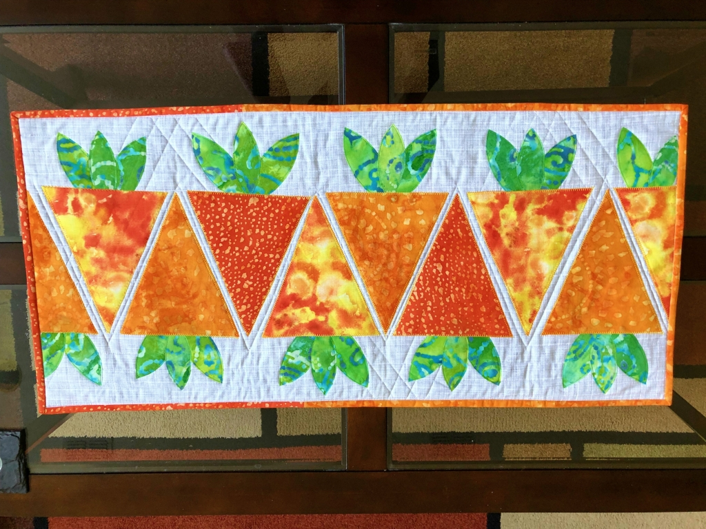Easter,quilted table runner, carrot applique
