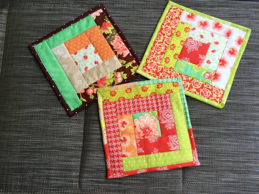 log cabin potholders