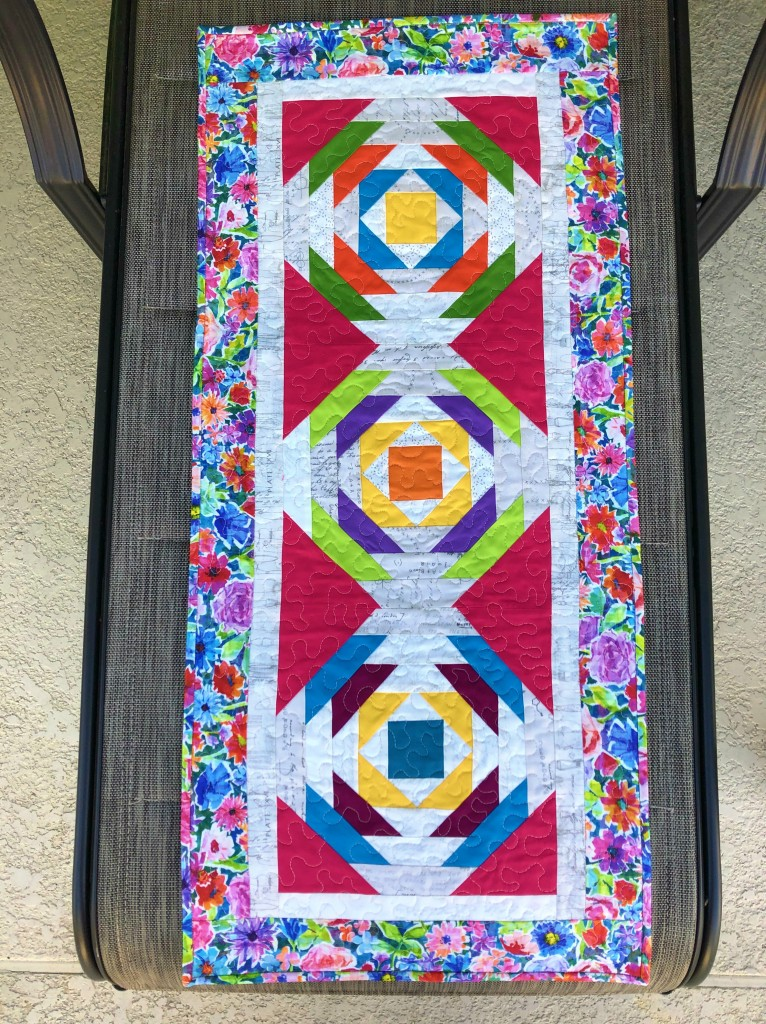 Pineapple Quilted Table Runner