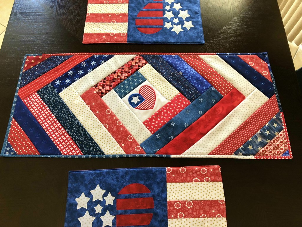 Patriotic QAYG Table Runner