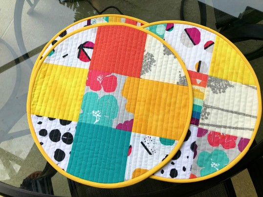 quilted round placemats