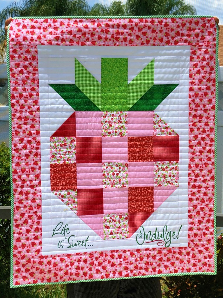 strawberry mini quilt