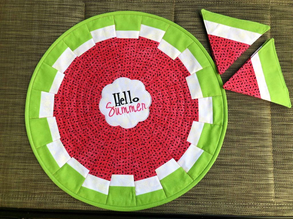 watermelon table topper