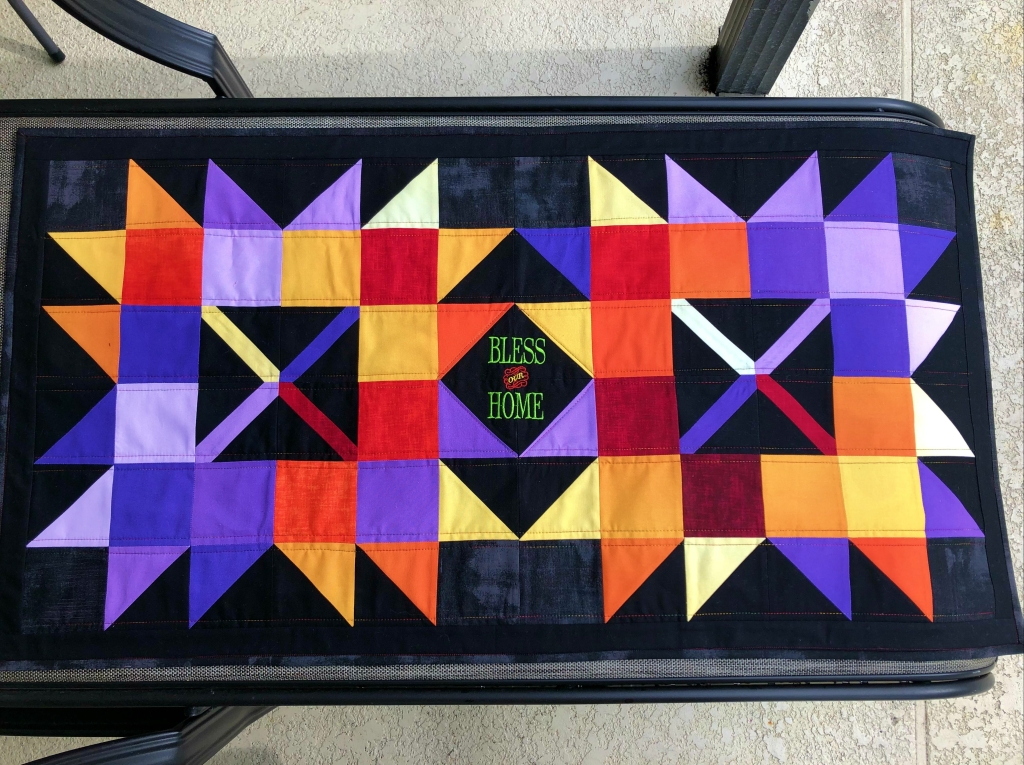 ombre fabric fall table runner