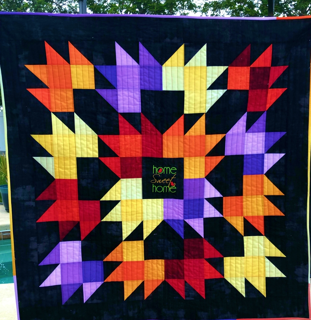 ombre fabric maple quilt