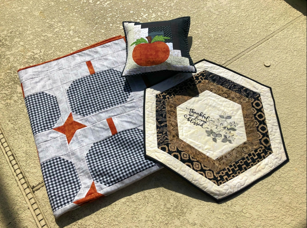 Quilted Gingham Pumpkin Gift Set