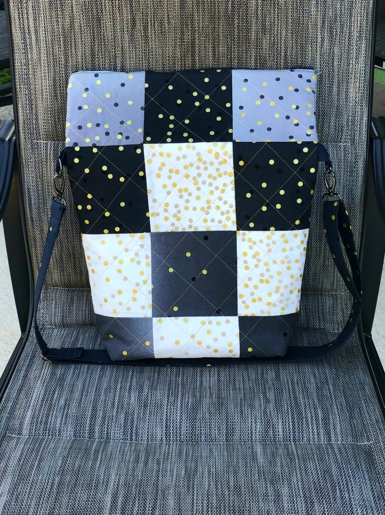 quilted purse confetti dots