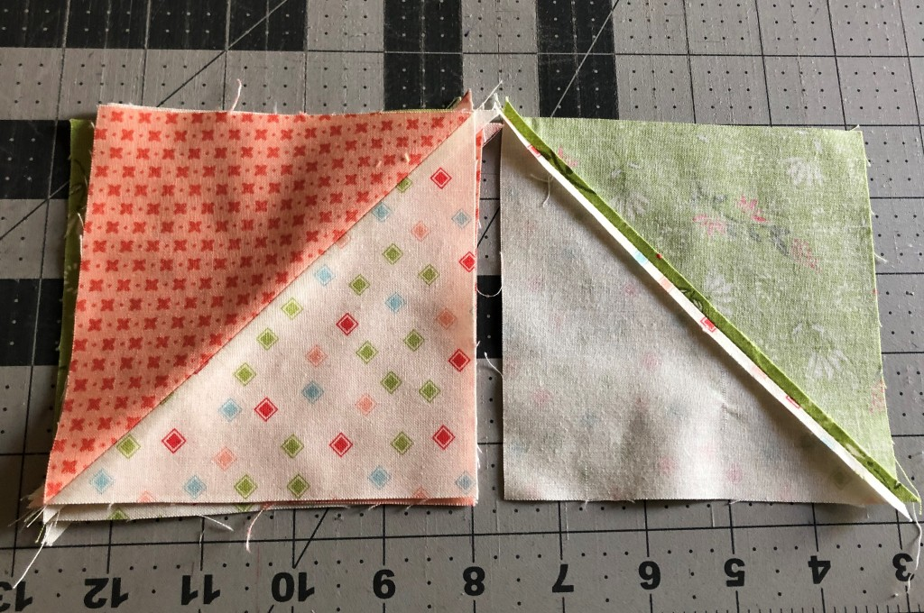 half square triangle press seams