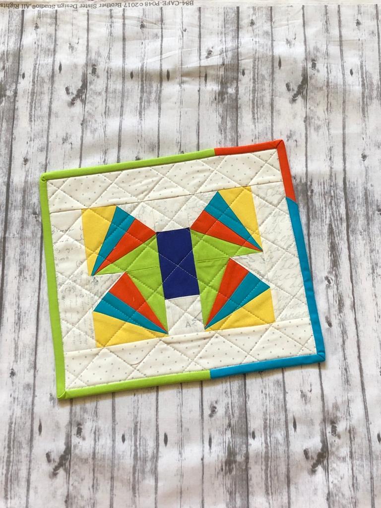paper piecing, butterfly, scrap mini quilt