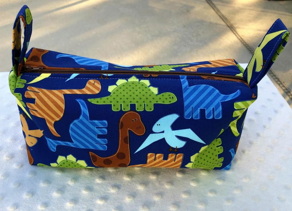 blue dino boxy pouch