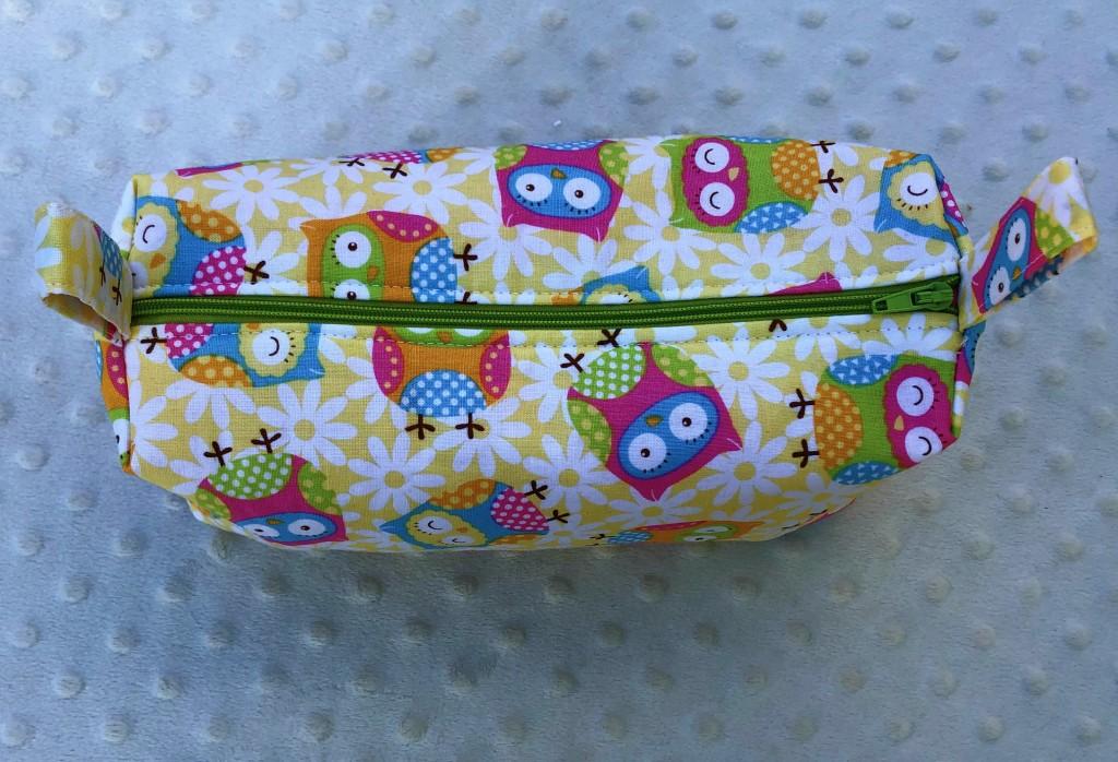 pastel owl boxy pouch