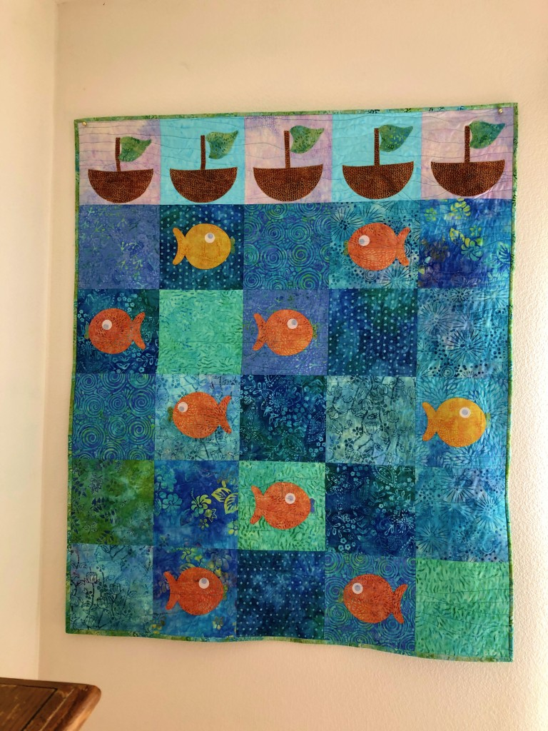 come sail with me quilted baby quilt