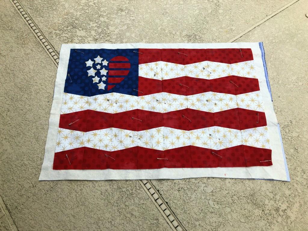 flag tumbler quilt wip