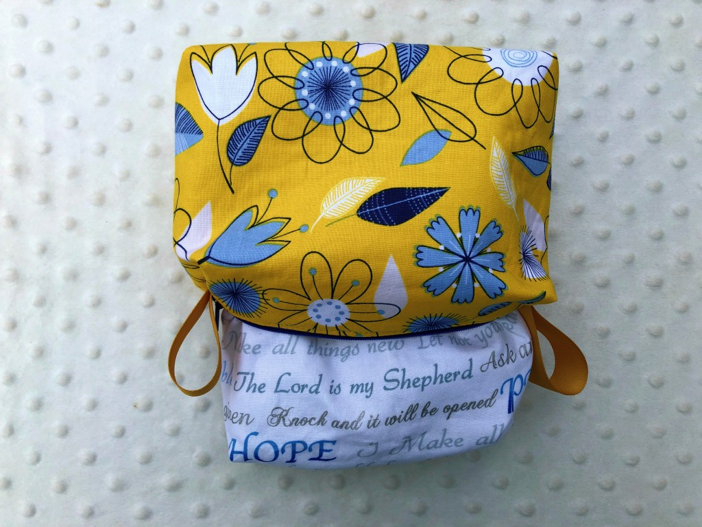 floral boxy pouch