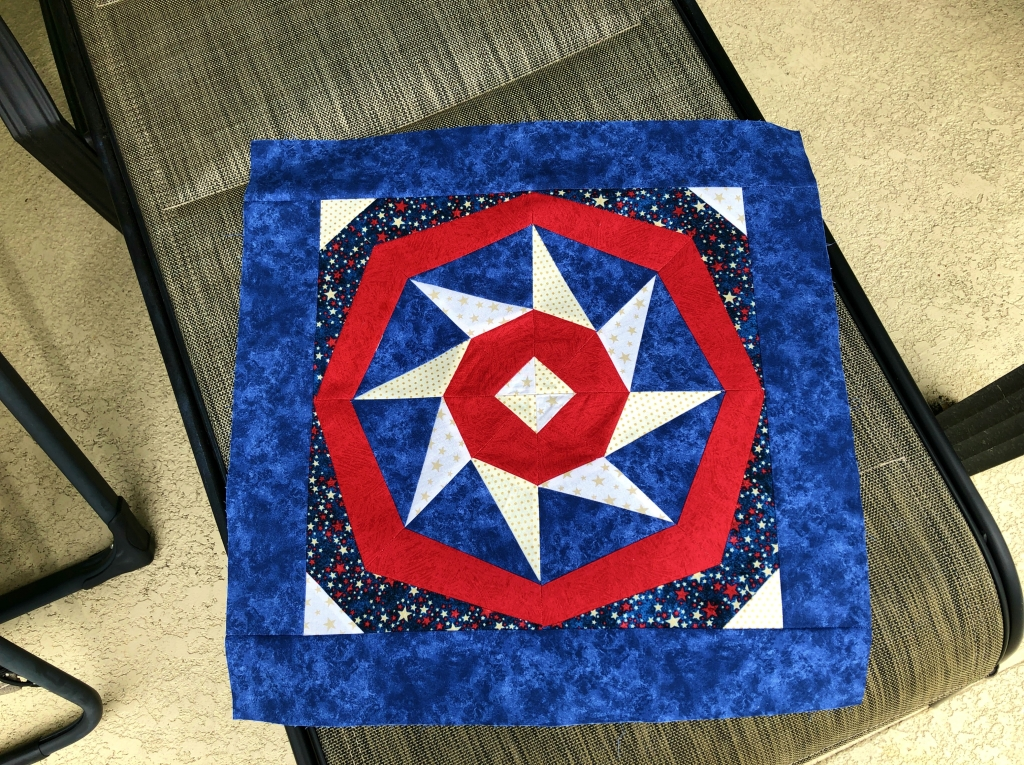 spinning star paper pieced pillow wip