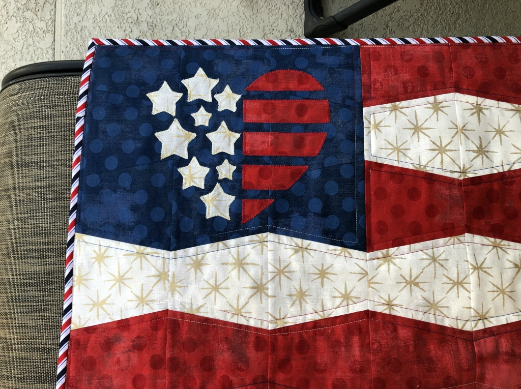 flag tumbler embroidery
