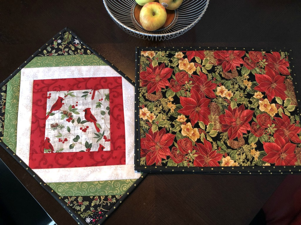 Quilt As You Go June Tailor Casablana Christmas Placemats