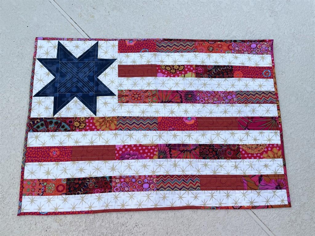 Handmade, Scrappy Patchwork Flag, Kaffe Fabrics