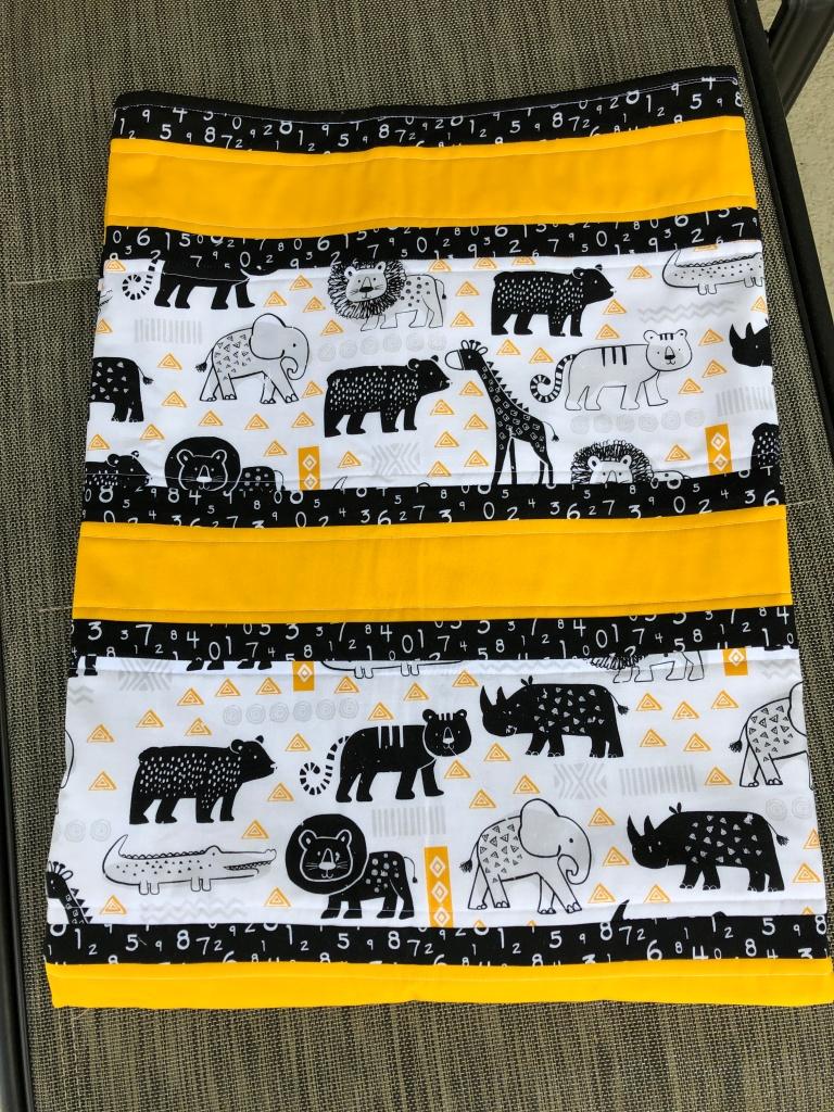 Handmade baby quilt, Nursery Decor, Jungle Animals, Gender Neutral Baby Gift, Great baby shower gift